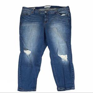 Torrid Ex-Boyfriend Distressed Knee Rip Jeans